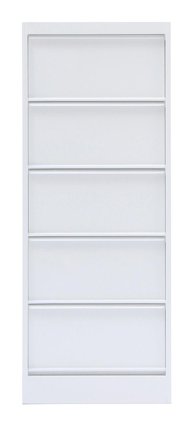 Arredamento - Raccoglitori - Portaoggetti Classeur à clapets CC5 di Tolix - Bianco - Acciaio riciclato laccato