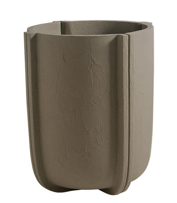 Pot de fleurs Cassero / Ø 60 x H 70 cm - Plastique effet béton - Serralunga gris clair en matière plastique