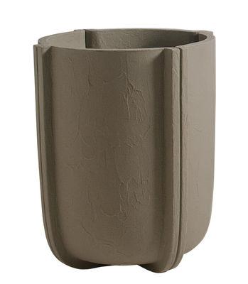 Pot de fleurs Cassero / Ø 60 x H 70 cm - Plastique effet béton - Serralunga gris en matière plastique