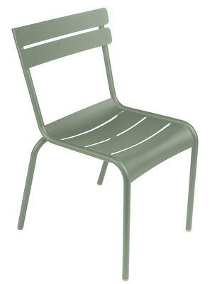 Arredamento - Sedie  - Sedia impilabile Luxembourg / Alluminio - Fermob - Cactus - Alluminio laccato