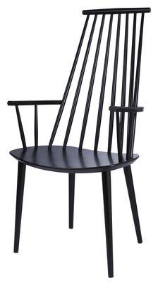 Möbel - Stühle  - J110 Sessel - Hay - Schwarz - Hêtre massif teinté