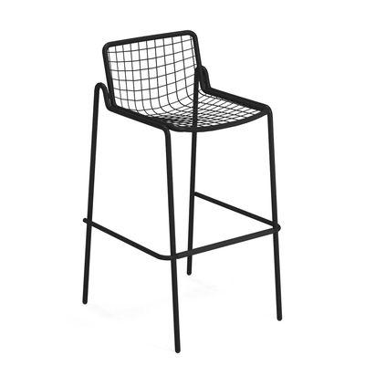 Furniture - Bar Stools - Rio R50 Stackable bar stool - / H 74 cm - Metal by Emu - Black - Steel
