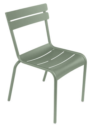 Furniture - Chairs - Luxembourg Stacking chair - Aluminium by Fermob - Cactus - Lacquered aluminium