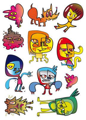 Dekoration - Für Kinder - Adopt me Sticker Set mit 11 Mini-Stickern - Domestic - Grafik von Jon Burgerman - Vinyl