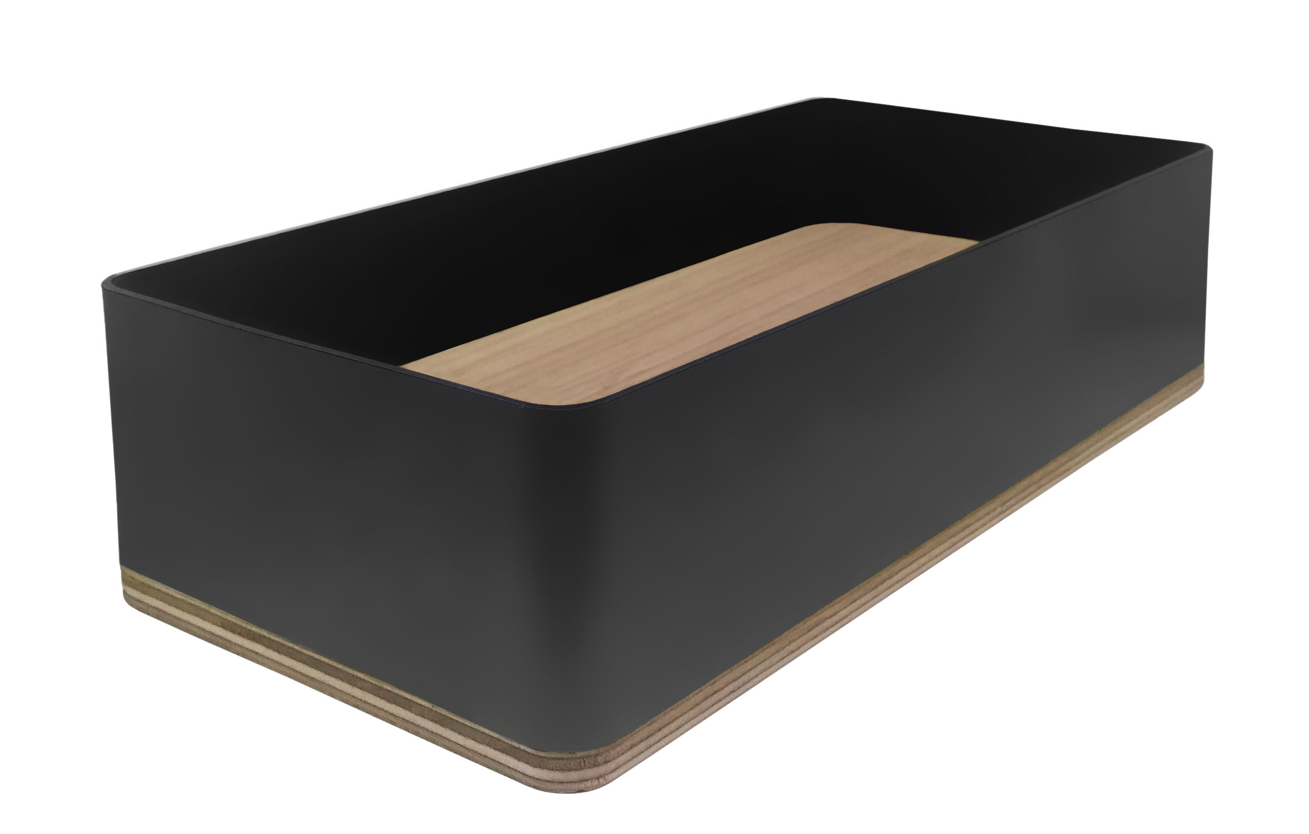 Accessoires - Accessoires für das Büro - Portable Atelier Stifthalter / Moleskine - niedrig - Driade - Schwarz - Birkenholzfurnier, lackierter Stahl