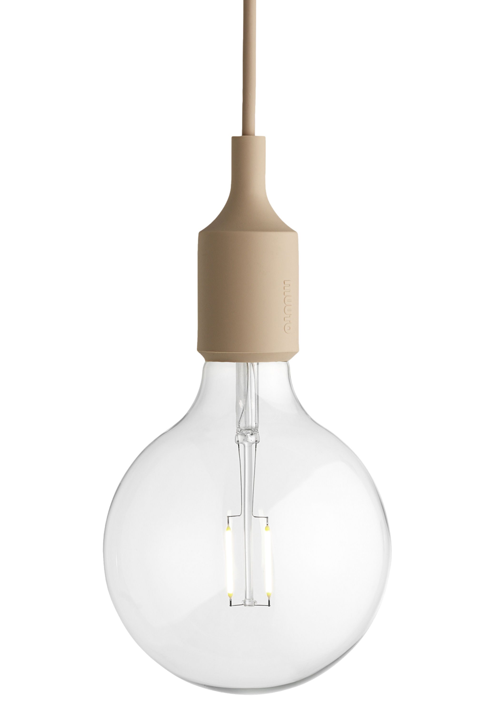 Luminaire - Suspensions - Suspension E27 - Muuto - Beige nude - Silicone