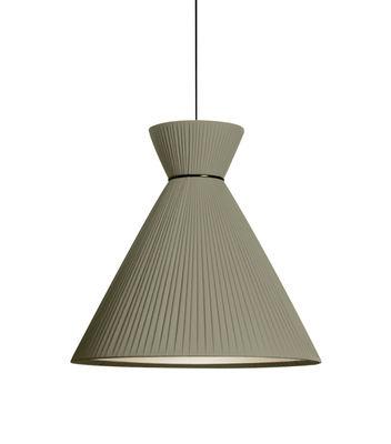 Luminaire - Suspensions - Suspension Mandarina / Tissu plissé - Ø 43 x H 43 cm - Carpyen - Vert Olive - Tissu polyester