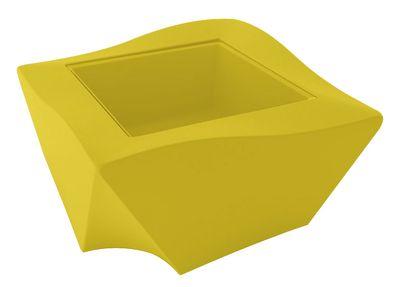 Table basse Kami Ni - Slide jaune en verre