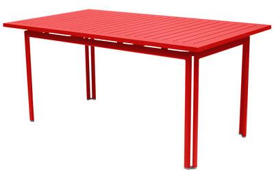 Table Costa / 160 x 80 cm - Fermob coquelicot en métal