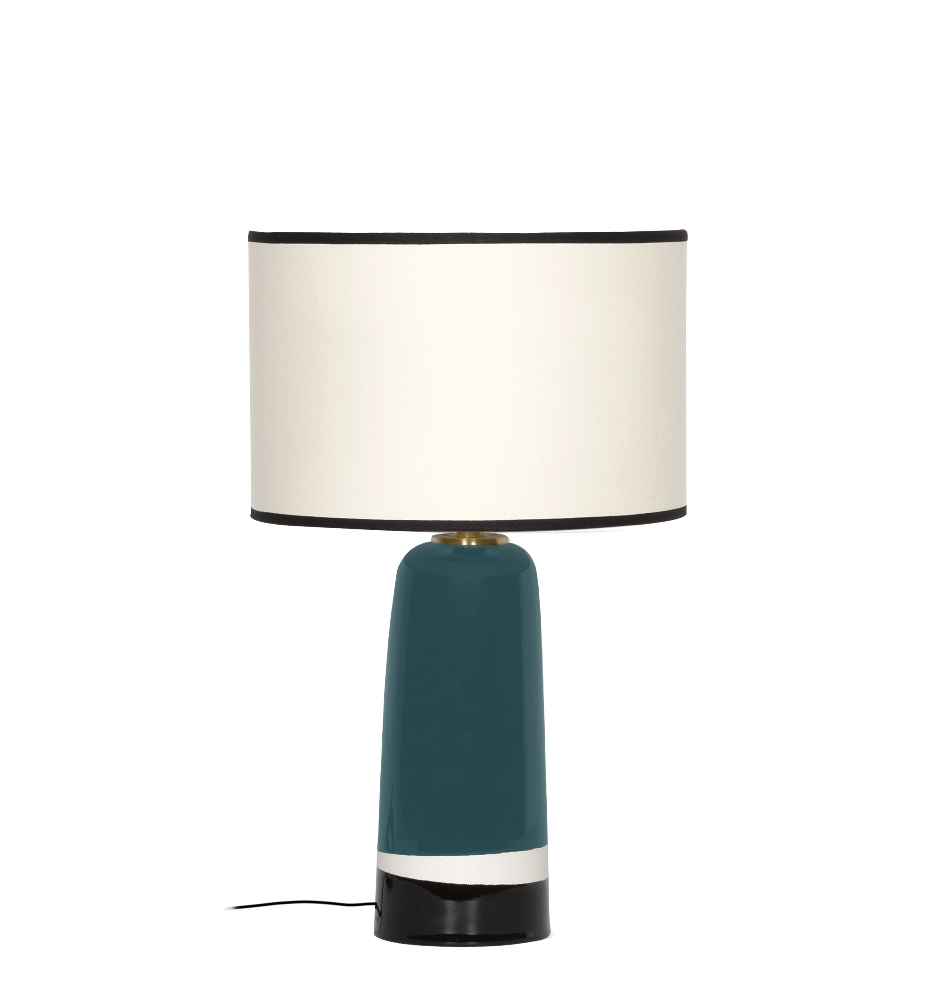 Lighting - Table Lamps - Sicilia Small Table lamp - / H 49 cm - Ceramic by Maison Sarah Lavoine - Sarah blue - Ceramic, Cotton
