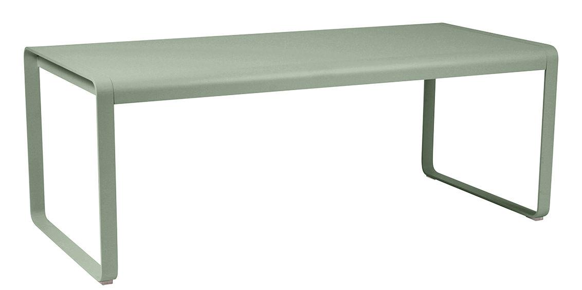 Outdoor - Tavoli  - Tavolo Bellevie / L 196 cm - 8 a 10 persone - Fermob - Cactus - Acciaio, Alluminio