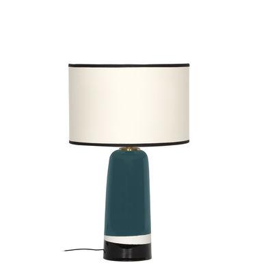 Leuchten - Tischleuchten - Sicilia Small Tischleuchte / H 49 cm - Keramik - Maison Sarah Lavoine - Blau Sarah - Baumwolle, Keramik