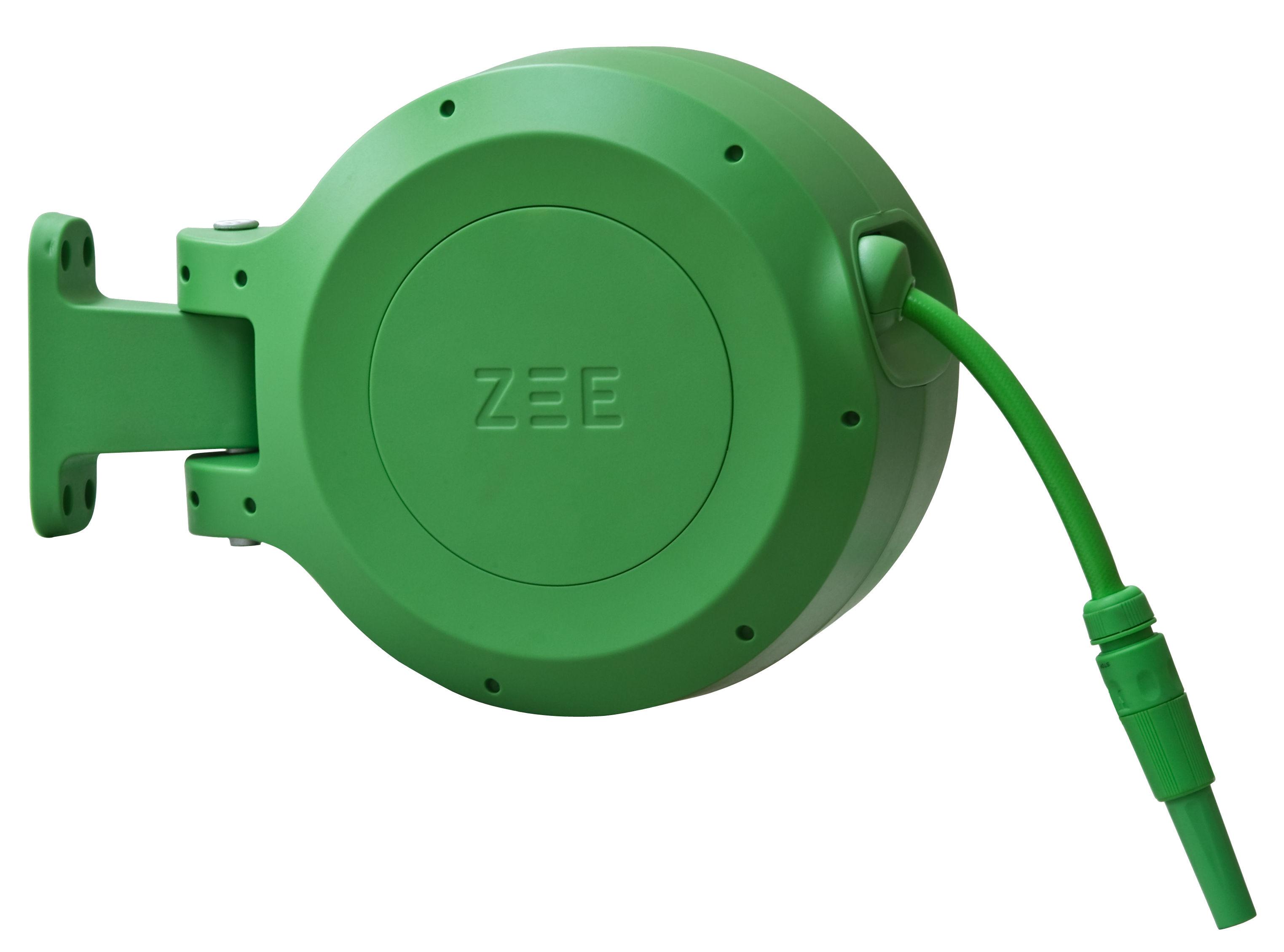 Outdoor - Pots et plantes - Tuyau d'arrosage Mirtoon 10m / Enrouleur automatique - Pistolet offert - Zee - Vert - ABS, PVC