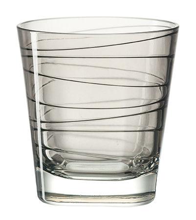 Arts de la table - Verres  - Verre à whisky Vario / H 9 cm - Leonardo - Gris - Verre