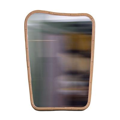 Decoration - Mirrors - Organique Medium Wall mirror - / 64 x 90 cm - Rattan by Maison Sarah Lavoine - Natural rattan - Glass, Rattan