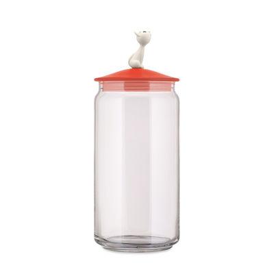 Tableware - Storage jars and boxes - MiòJar Airtight jar - / H 27 cm - 150 cl by Alessi - Orange - Glass, Thermoplastic resin