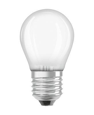 Ampoule LED E27 / Sphérique dépolie - 2,5W=25W (2700K, blanc chaud) - Osram blanc en verre