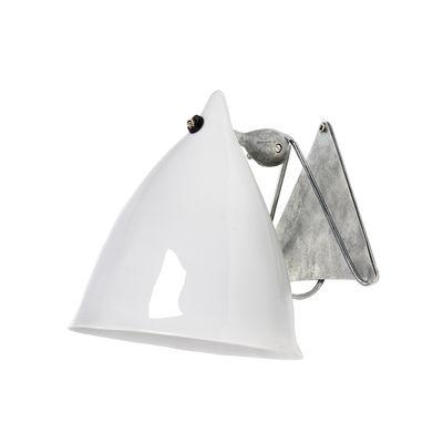 Luminaire - Appliques - Applique Cornette en porcelaine - Tsé-Tsé - Porcelaine blanche émaillée - Porcelaine