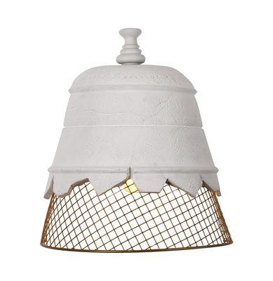 Illuminazione - Lampade da parete - Applique Domenica - / Gesso & rete metallica di Karman - Gesso Bianco / Rete dorata - Gesso, Metallo