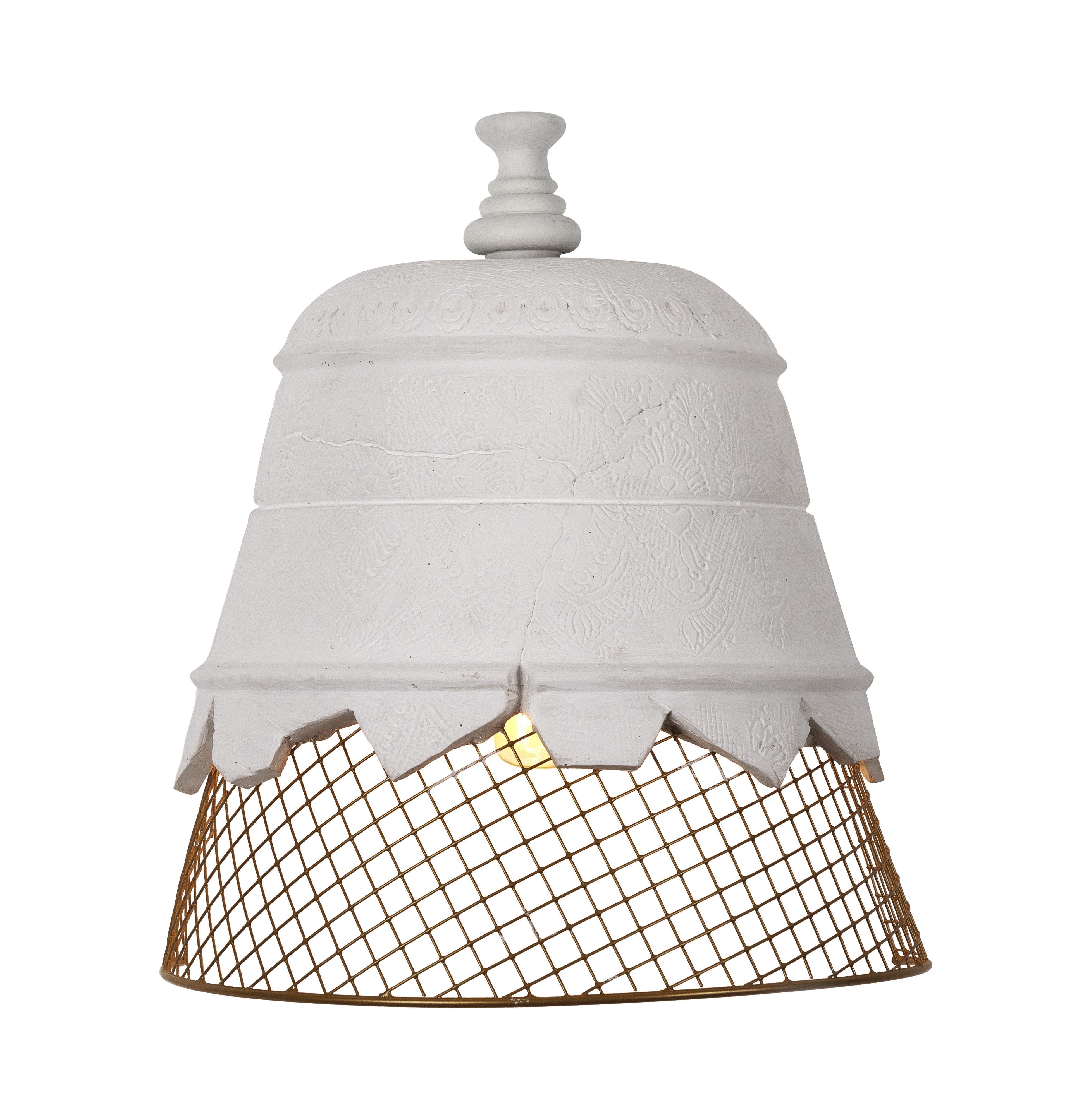 Luminaire - Appliques - Applique Domenica / Plâtre & résille métal - Karman - Plâtre blanc / Résille dorée - Métal, Plâtre