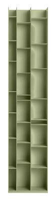Bibliothèque Random 3C / L 46 x H 217 cm - MDF Italia olive clair en bois