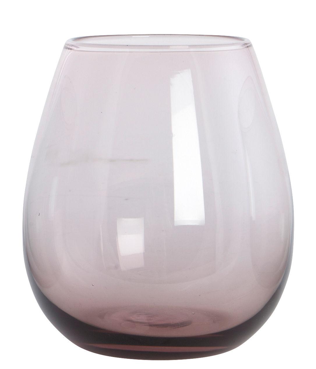 Tavola - Bicchieri  - Bicchiere da acqua Ball - /H 10 cm di House Doctor - Viola chiaro - Vetro soffiato a bocca