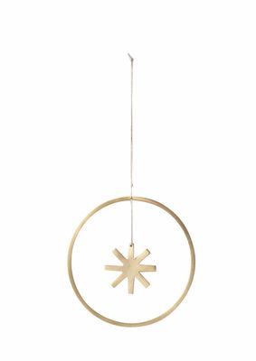 Boule de Noël Star / Small Ø 9 cm - Laiton - Ferm Living laiton en métal