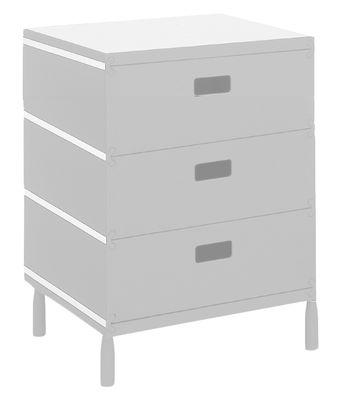 Mobilier - Mobilier Ados - Caisson Plus Unit / 3 tiroirs empilés sur pieds - Magis - Blanc - ABS