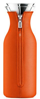 Carafe Stoppe-goutte 1 L / Tissu néoprène - Eva Solo orange en verre
