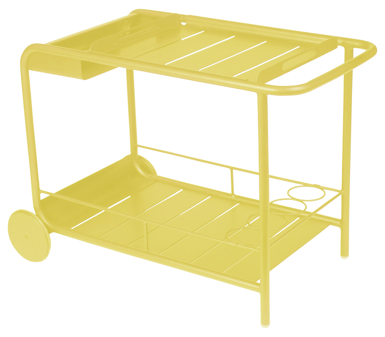 Arredamento - Complementi d'arredo - Carrello/tavolo d'appoggio Luxembourg - Bar di Fermob - limone - Alluminio laccato