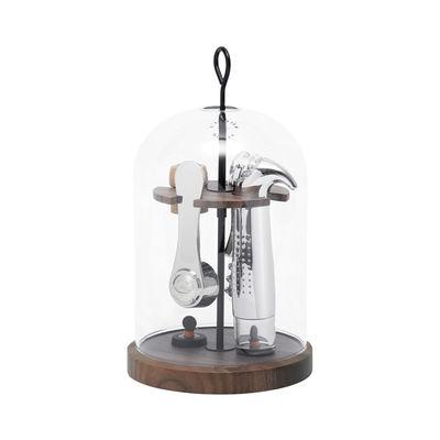 Arts de la table - Bar, vin, apéritif - Coffret sommelier Le Globe / 6 pièces - Cloche en verre - L'Atelier du Vin - Transparent / Bois - Bois, Métal, Verre