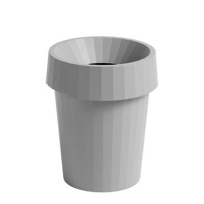 Accessoires - Accessoires bureau - Corbeille à papier Shade / Ø 30 x H 37 cm - Hay - Gris - Polypropylène recyclable