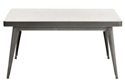 55 Couchtisch / 90 x 55 cm - Tolix - Rohstahl glänzend