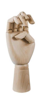 - Decorazione Wooden Hand Medium - / H 18 cm - Legno di Hay - H 18 cm / Legno naturale - Bois naturel