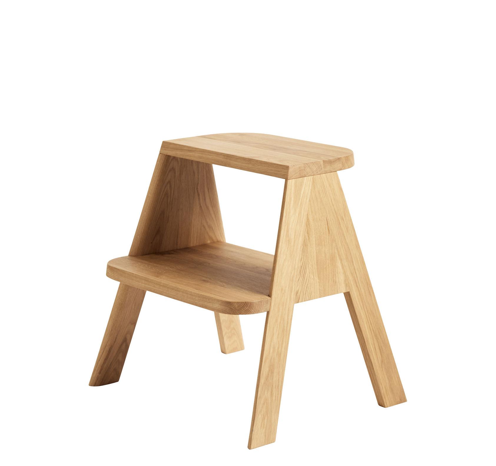 Mobilier - Compléments d'ameublement - Escabeau Butler / Multifonction - Chêne - Hay - Chêne huilé - Chêne massif