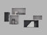 Etagère Mini Stacked 2.0 / Small rectangulaire 33x16 cm / Avec fond - Muuto