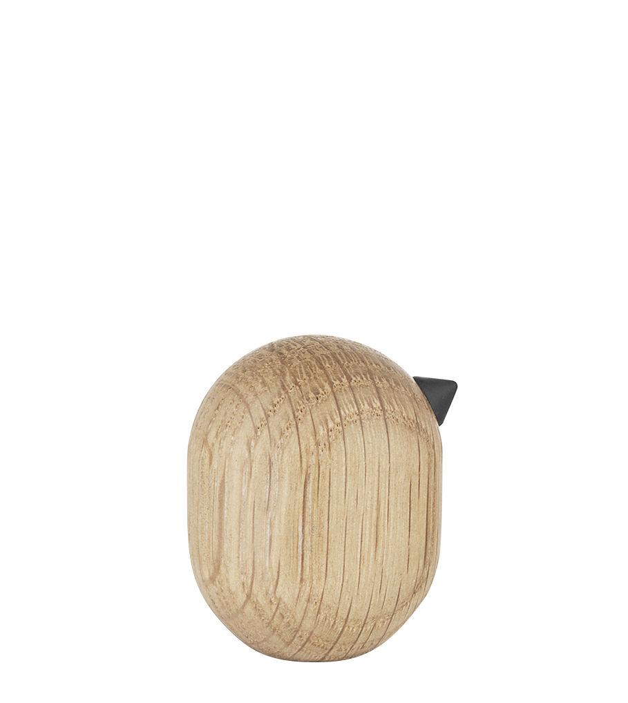 Déco - Objets déco et cadres-photos - Figurine Little Bird / H 4,5 x Ø 3,5 cm - Normann Copenhagen - Chêne - Chêne massif tourné