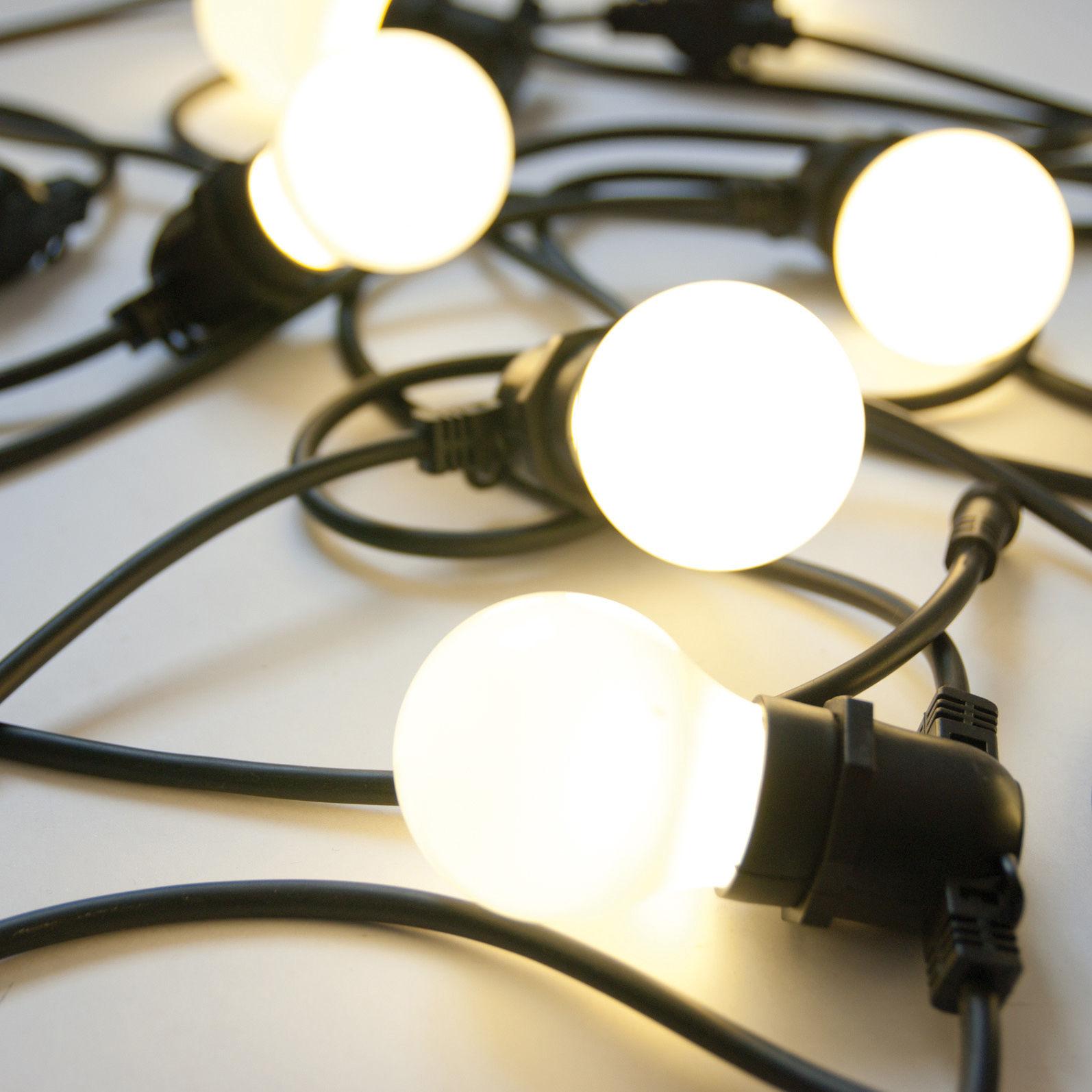 Illuminazione - Illuminazione da esterni - Ghirlanda luminosa Bella Vista - LED - Per esterno di Seletti - Cavo nero - Gomma