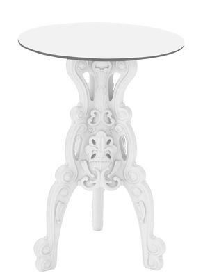 Furniture - High Tables - Master of love High table - Indoor / outdoor - H 110 cm by Design of Love by Slide - White - HPL, Polythene