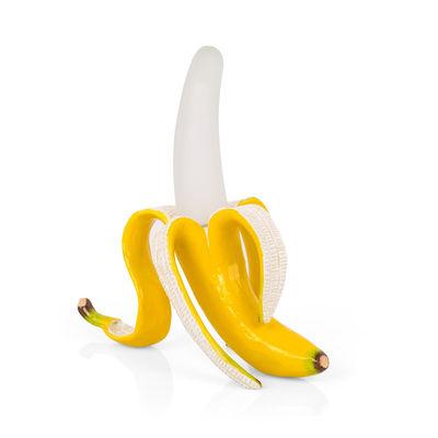 Banana Daisy Lampe ohne Kabel / Kunstharz & Glas - mit USB-Ladekabel - Seletti - Weiß,Gelb
