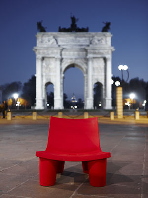 Low Armchair Low Lita By Slide Red Made In Design Uk