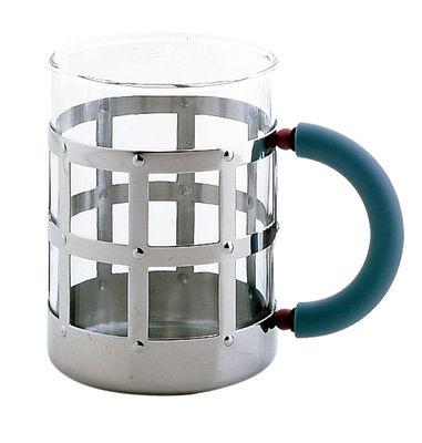 Tableware - Coffee Mugs & Tea Cups - Mug by Alessi - Chromed - Glass, Polyamide, Stainless steel
