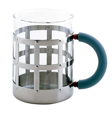 Tableware - Coffee Mugs & Tea Cups - Mug by Alessi - Chromed - Glass, Polyamide, Stainless steel