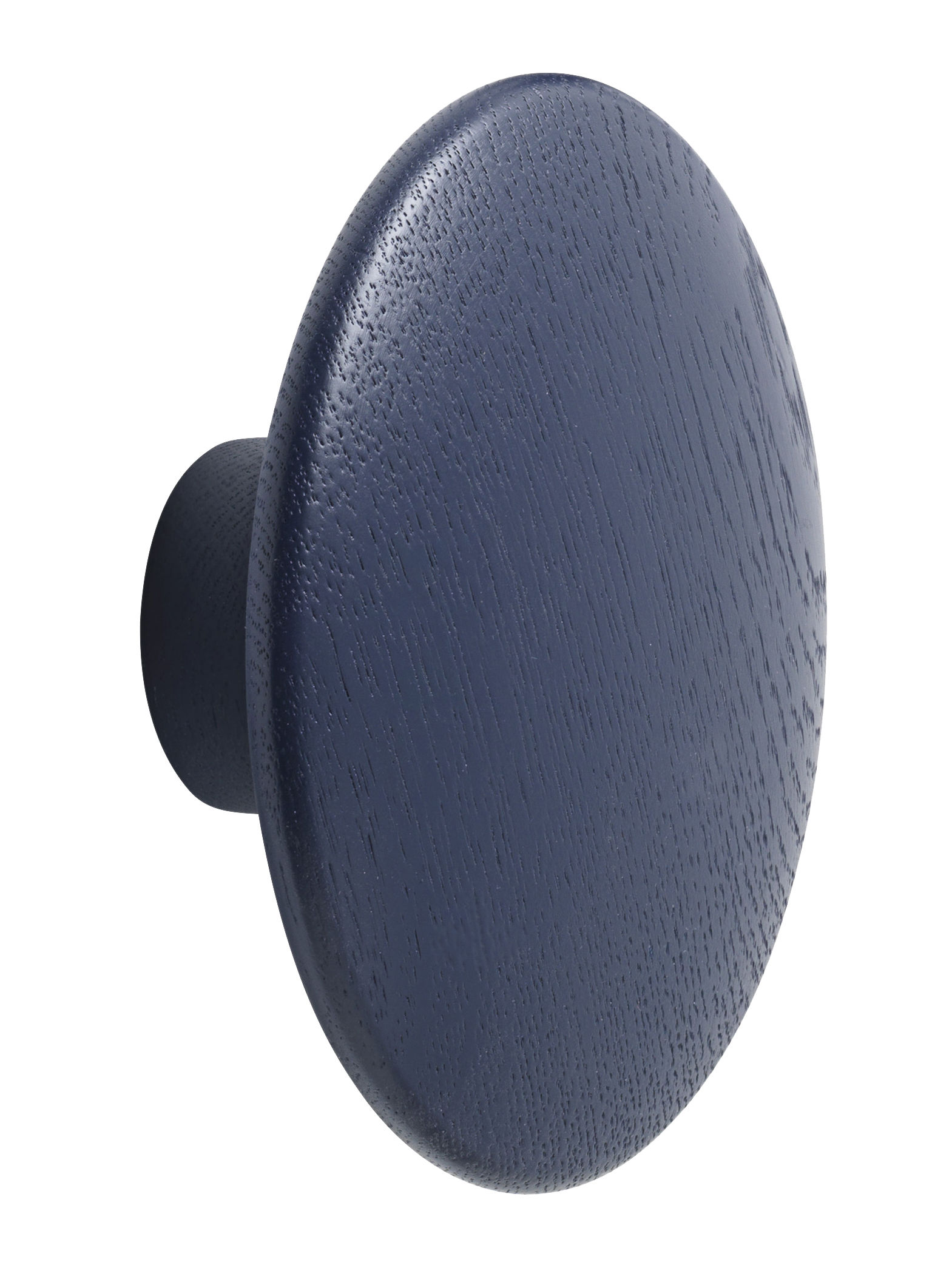 Mobilier - Portemanteaux, patères & portants - Patère The dots / Medium - Ø 13 cm - Muuto - Bleu nuit - Frêne teinté