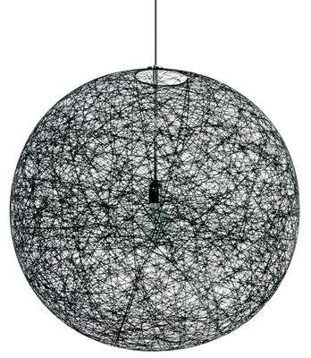 Leuchten - Pendelleuchten - Random Light Pendelleuchte - Moooi - Schwarz - Ø 50 cm - Glasfaser