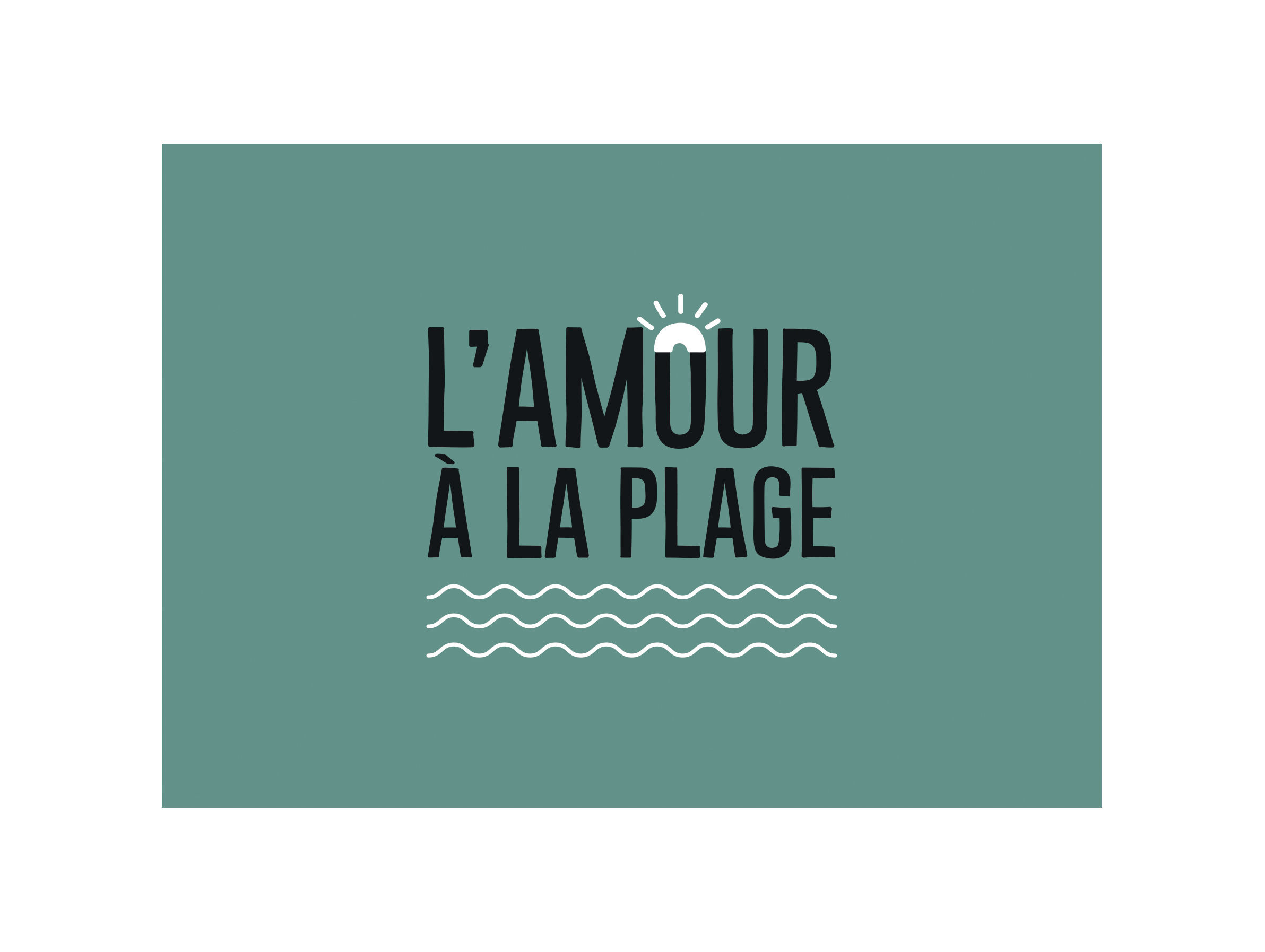 Tableware - Napkins & Tablecloths - Amour Placemat - / 35 x 49 cm - Vinyl by PÔDEVACHE - Pink - Vinal