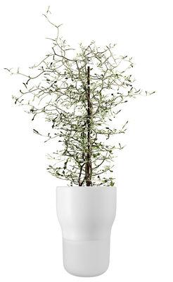 Déco - Pots et plantes - Pot à réserve d'eau / Large - Ø 13 x H 18 cm - Eva Solo - Blanc craie - Céramique, Verre dépoli soufflé bouche