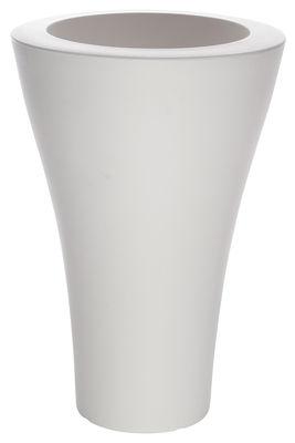 Pot de fleurs Ming High - Serralunga blanc en matière plastique