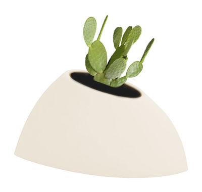 Pot de fleurs Tao S H 36 cm - MyYour blanc/beige en verre/matière plastique