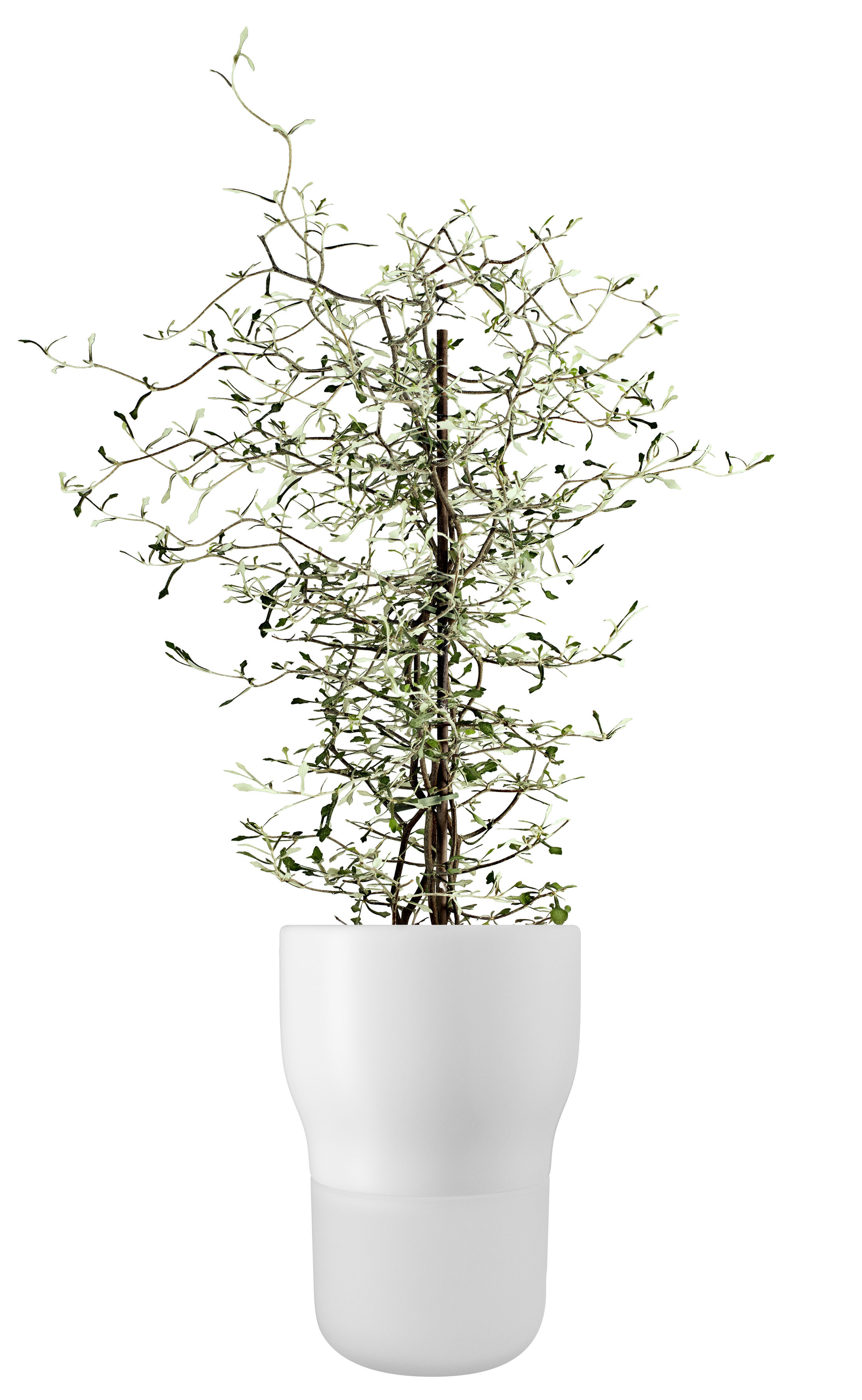 Decoration - Flower Pots & House Plants - Pot water storage - Large - Ø 13 x H 18 cm by Eva Solo - Chalk white - Ceramic, Hand blown frosted glass